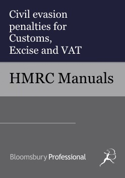 Civil evasion penalties for Customs, Excise and VAT