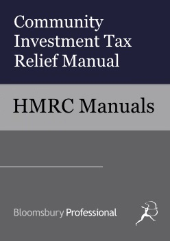 Community Investment Tax Relief Manual
