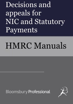 Decisions and appeals for National Insurance Contributions and Statutory Payments