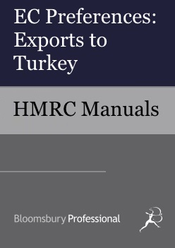 EC Preferences: Exports to Turkey