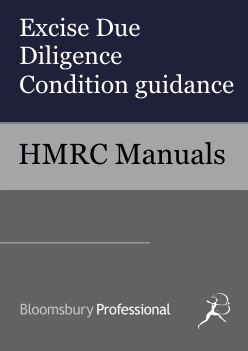 Excise Due Diligence Condition guidance