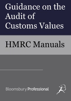Guidance on the Audit of Customs Values