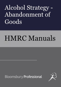 Holding and Movements: Alcohol Strategy Abandonment of Goods