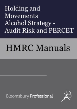 Holding and Movements Alcohol Strategy - Audit Risk & PERCET