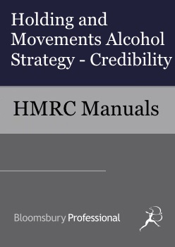 Holding and Movements Alcohol Strategy - Credibility