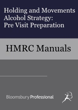 Holding and Movements Alcohol Strategy - Pre Visit Preparation