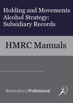 Holding and Movements Alcohol Strategy - Subsidiary Records
