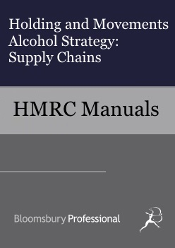 Holding and Movements Alcohol Strategy - Supply Chains