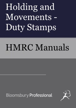 Holding and Movements - Duty Stamps