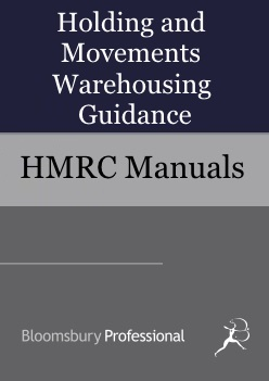 Holding and Movements Warehousing Guidance