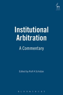 Institutional Arbitration: Article-by-Article Commentary