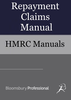 Repayment Claims Manual