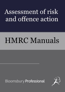 Strategic Goods and Services - Assessment of risk and offence action