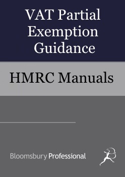VAT Partial Exemption Guidance