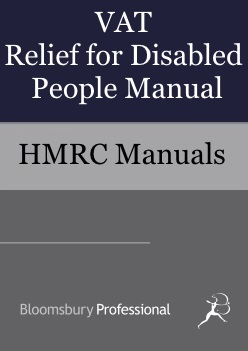 VAT Relief for Disabled People Manual