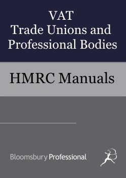 VAT Trade Unions and Professional Bodies